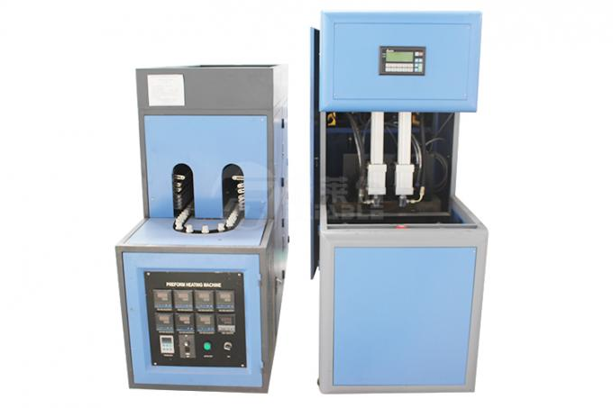 2 Cavity Semi Automatic PET Bottle Blowing Machine 100 - 2000 Ml Volume
