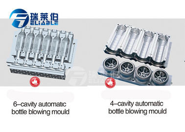 Small Bottle Blow Moulding Moulds , 4 / 6 / 8 Cavities PET Preform Mould